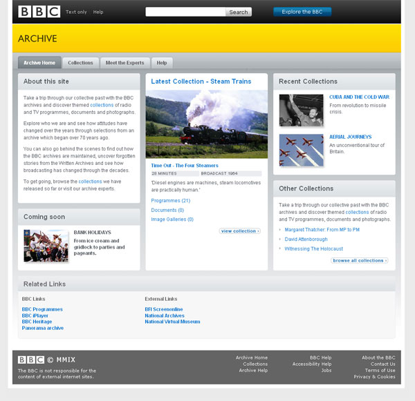 My Work - Contract Work - BBC Archive Team and BBC world